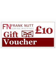 Frank Nutt Sewing Machines Gift Voucher - £10