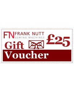 Frank Nutt Sewing Machines Gift Voucher - £25